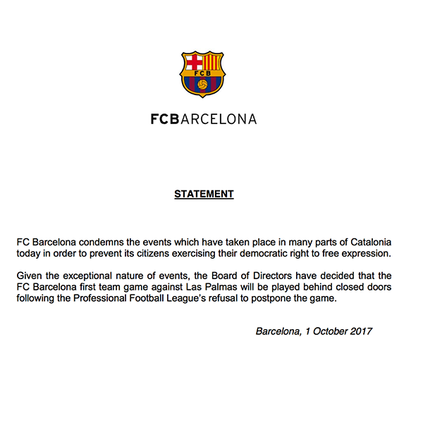FCB-Statement